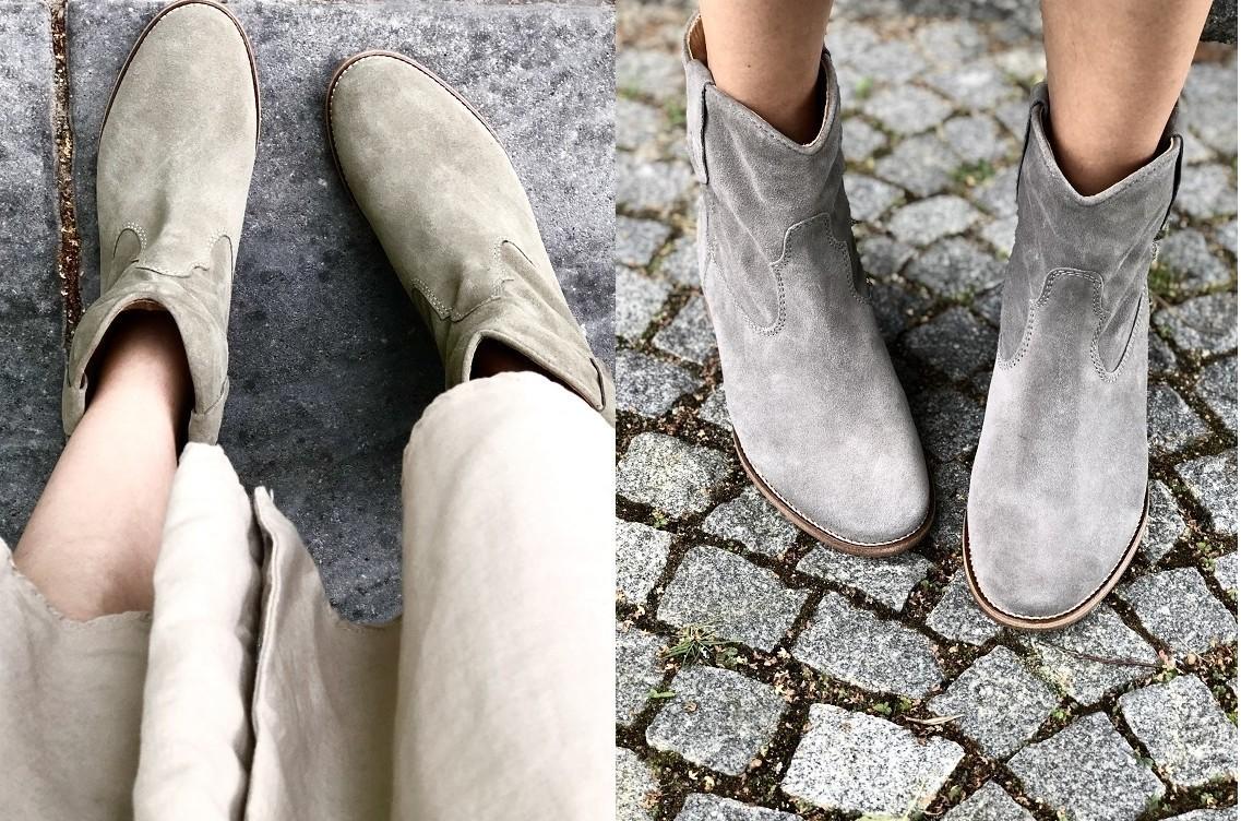 Kultowe buty Isabel Marant w casualowych stylizacjach